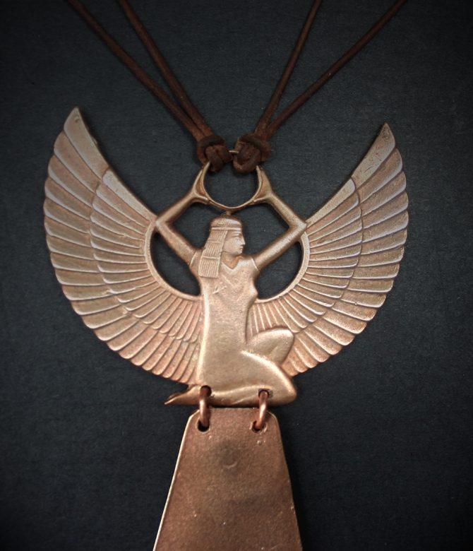 Bronze Isis Neckpiece
