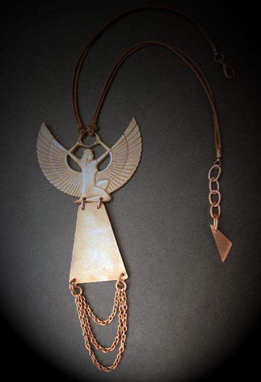 Bronze Isis Necklace
