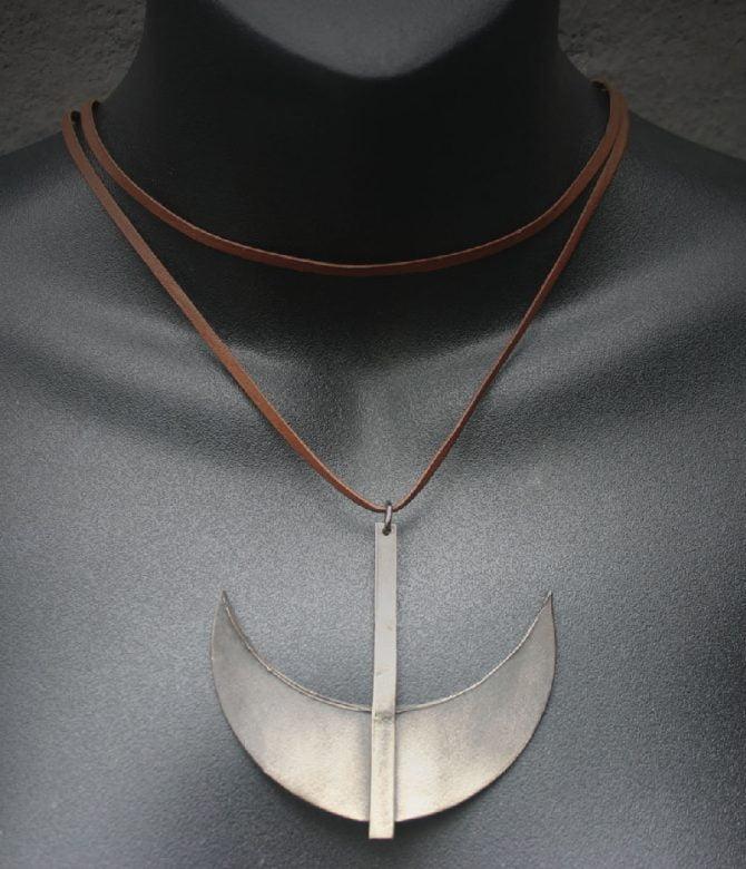 White Bronze Necklace
