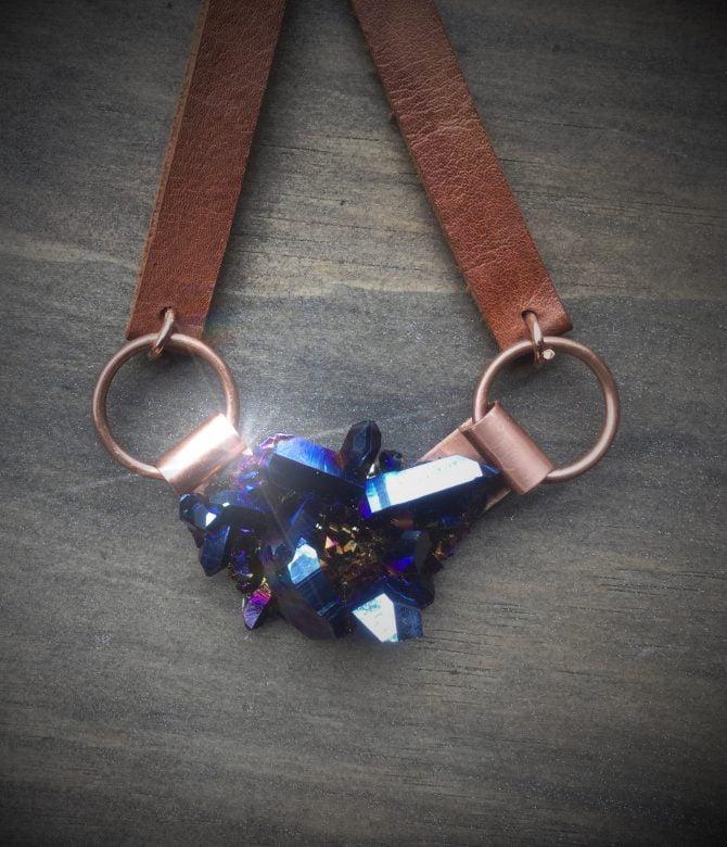 Angular Shard Cobalt Quartz Neckpiece