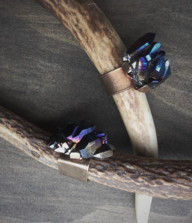 Cobalt Quartz Cocktail Rings