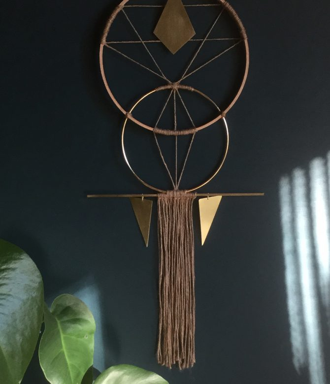 Small Golden Symmetry Sacred Geometry Wall Hanging