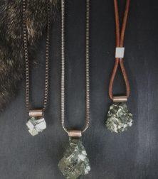 Pyrite Boulder Neckpieces