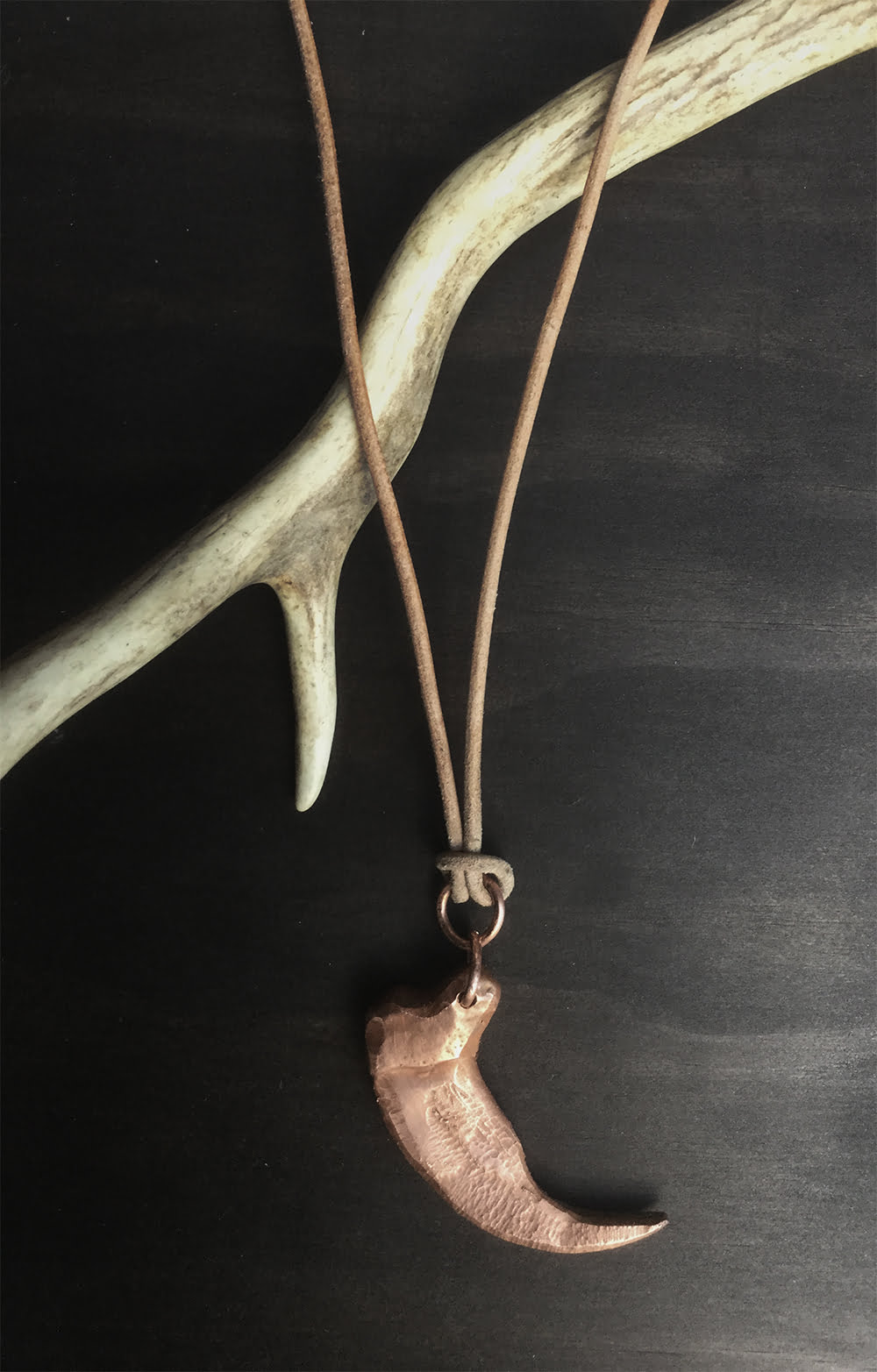 Copper Claw Necklace