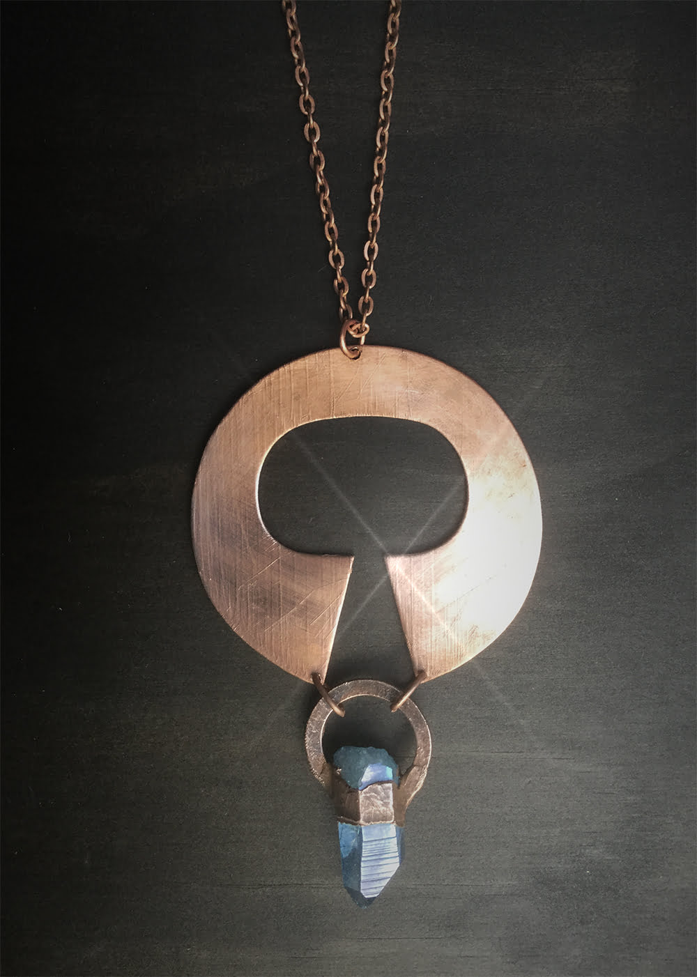 Totem Goddess Aqua Aura Necklace