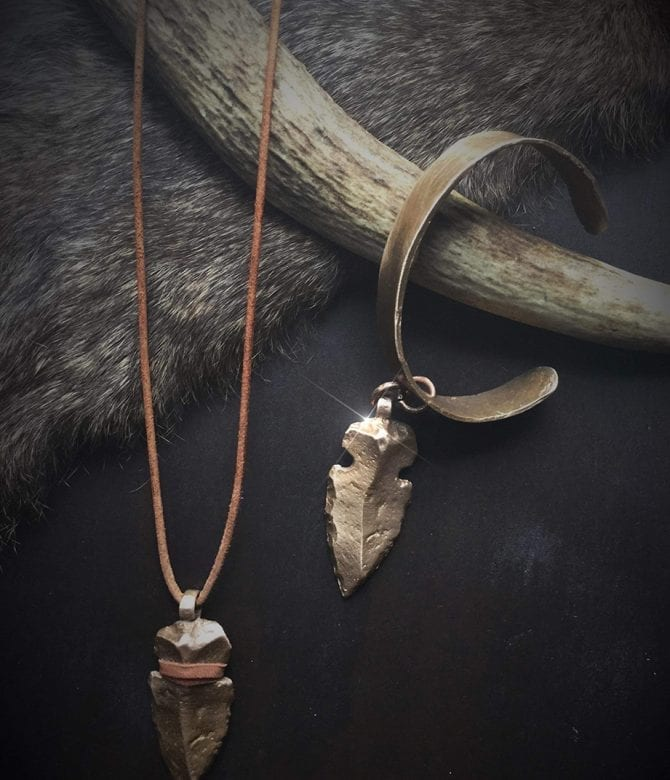 Bronze Spearhead Necklace and Bracelet